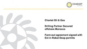 Chariot Oil & Gas - Eni secured as Drilling...