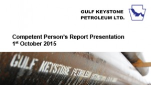 Gulf Keystone Petroleum - Competent Person's Report presentation