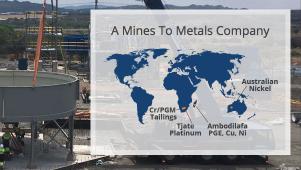 Jubilee Metals Group - Live Update