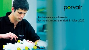 Porvair - Audio webcast of results for the six...