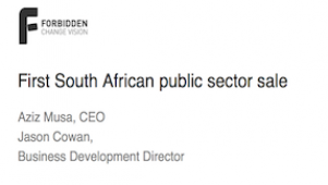 Forbidden Technologies - First South African public sector sale
