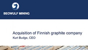 Beowulf Mining - Acquisition of Finnish graphite company